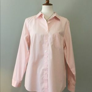 Pink button down top from LL Bean! Like new!